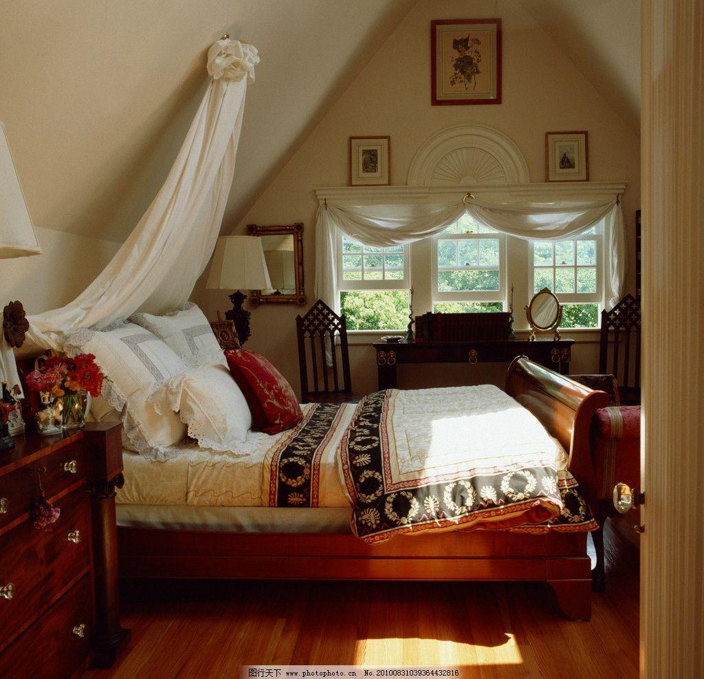 结婚卧室纱幔布置图片
