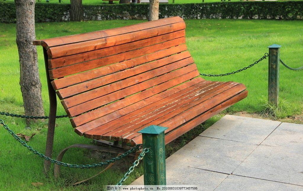 公园里的椅子 公园里的凳子 公园里的长条凳 建筑园林 摄影
