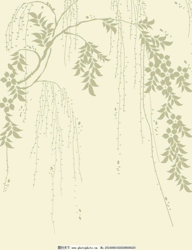垂柳移门 垂柳 柳树 柳树开花 树叶 叶子 移门图案 移门图片 移门大全