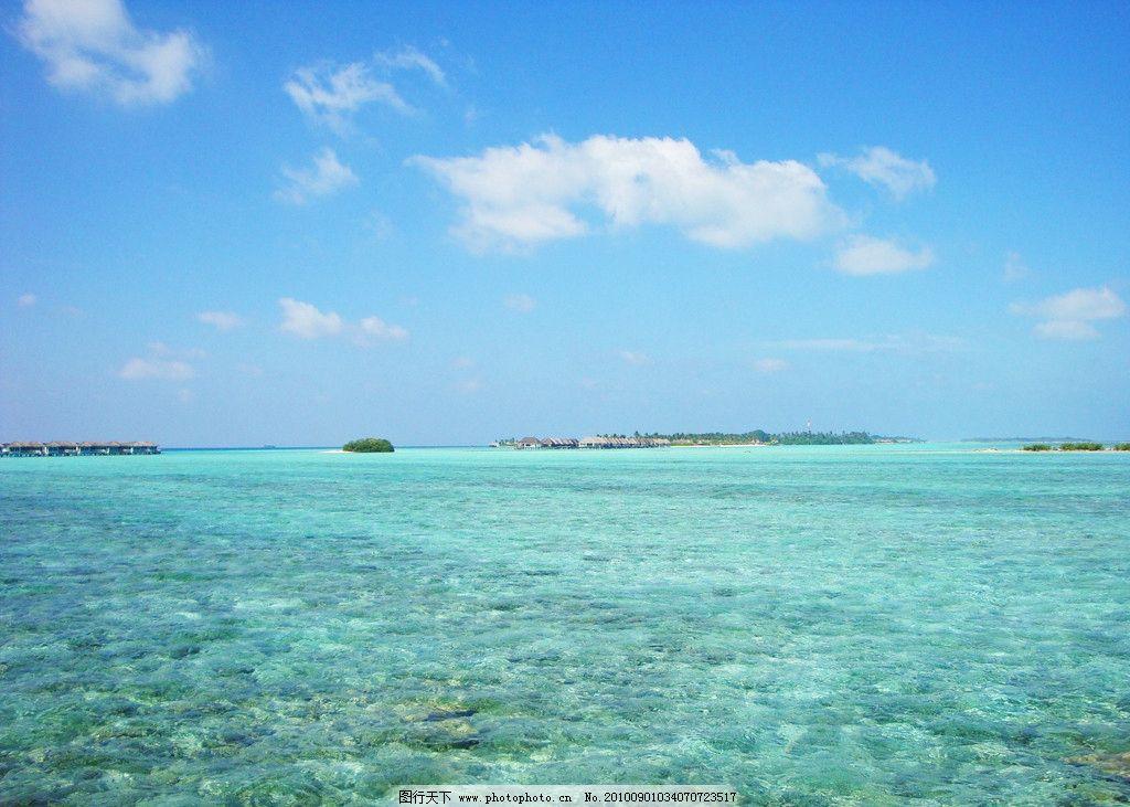 马尔代夫蓝天大海图片