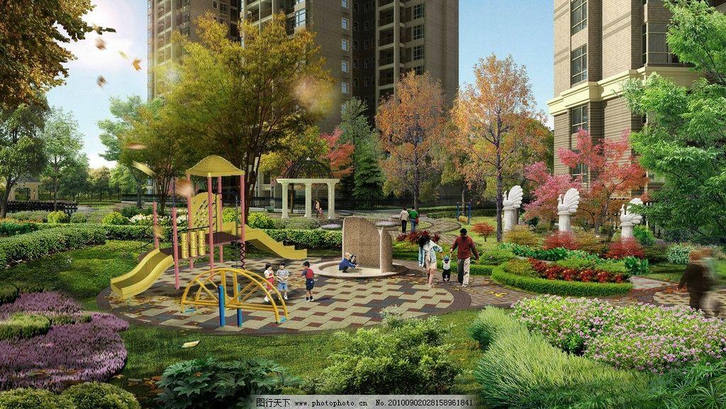 透视 仰视 俯视 效果 效果图 建筑 园林 别墅 雅居 豪宅 小区 幼儿园