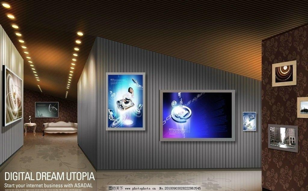 科技展览馆图片,室内设计 效果图 室内装修 灯光 室内