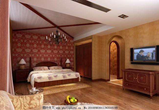 卧室 卧室图片免费下载 吊顶造型 欧式家具 室内设计 卧室设计素材图片