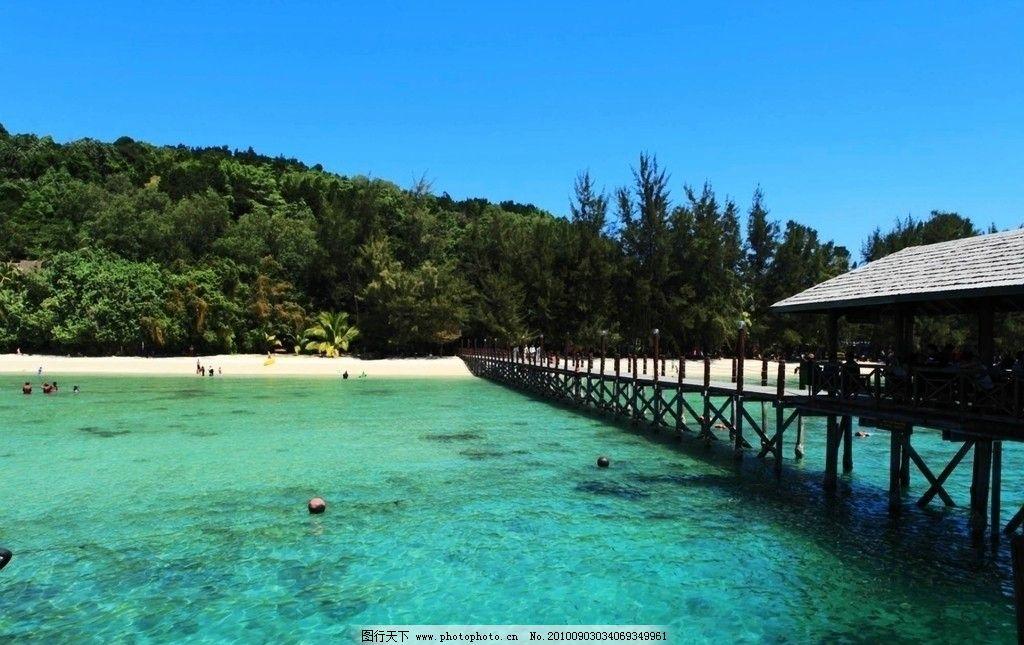 马来西亚景观 东南亚 马来西亚 沙巴 哥打京那巴鲁 蓝天 白云 风景