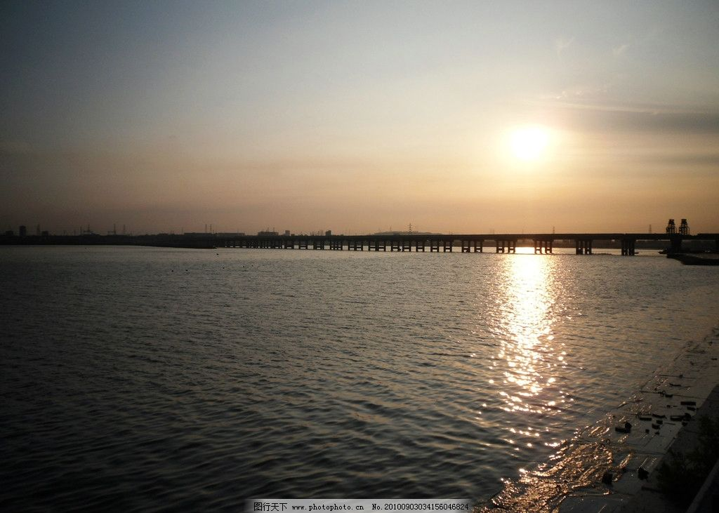 海边夕阳 大连 海 夕阳 晚霞 静谧 休闲 桥 自然风景 旅游摄影 摄影