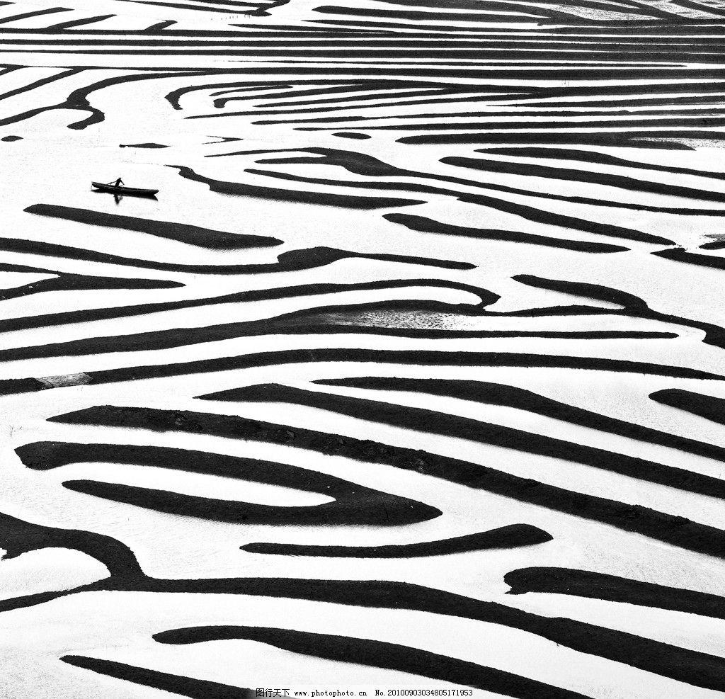 滩涂的肌理美图片_自然风景_自然景观_图行天下图库