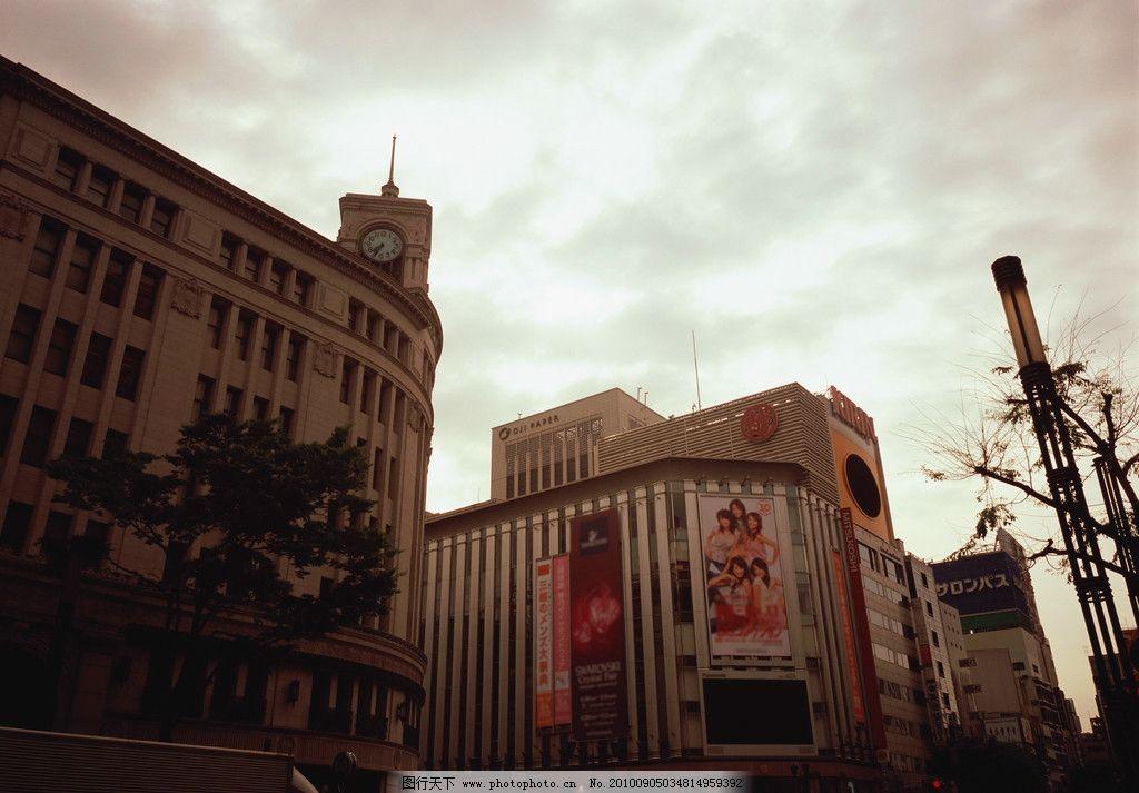 建筑楼 建筑 钟楼 天空 广告画 欧式风格 阳光自然风景 自然风景 自然