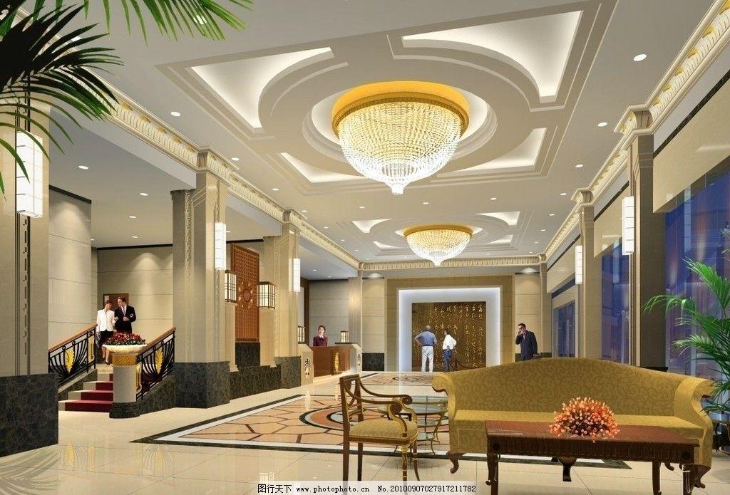 酒店大堂效果圖 室內效果圖 大廳效果圖 酒店設計 接待大廳 中式設計