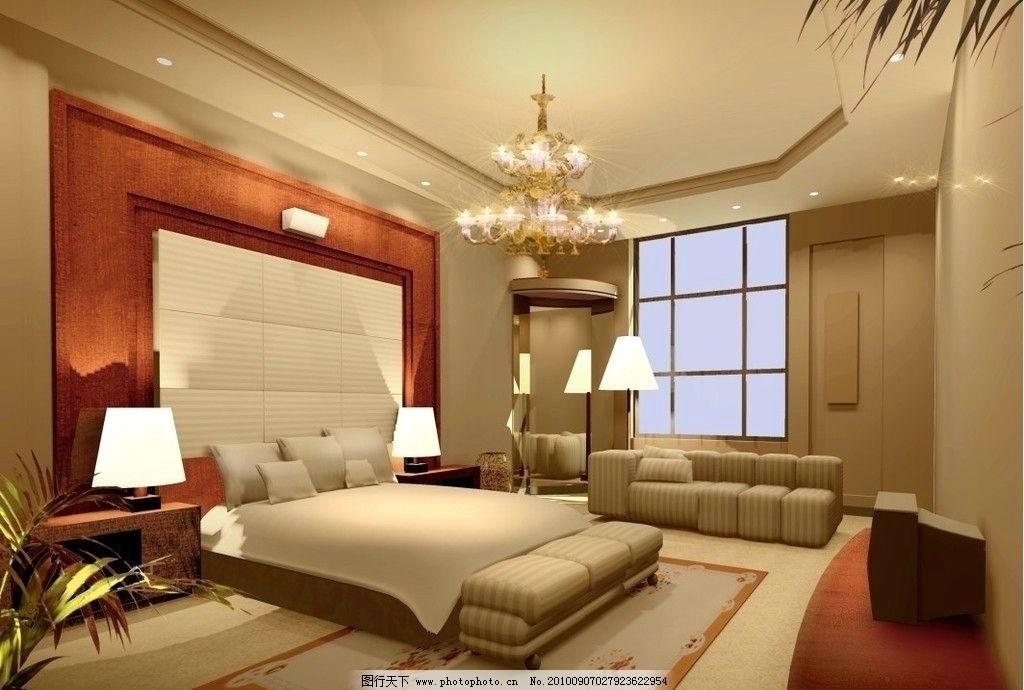 酒店套房效果图 室内效果图 卧室设计 宾馆 客房 卧室效果图 温馨