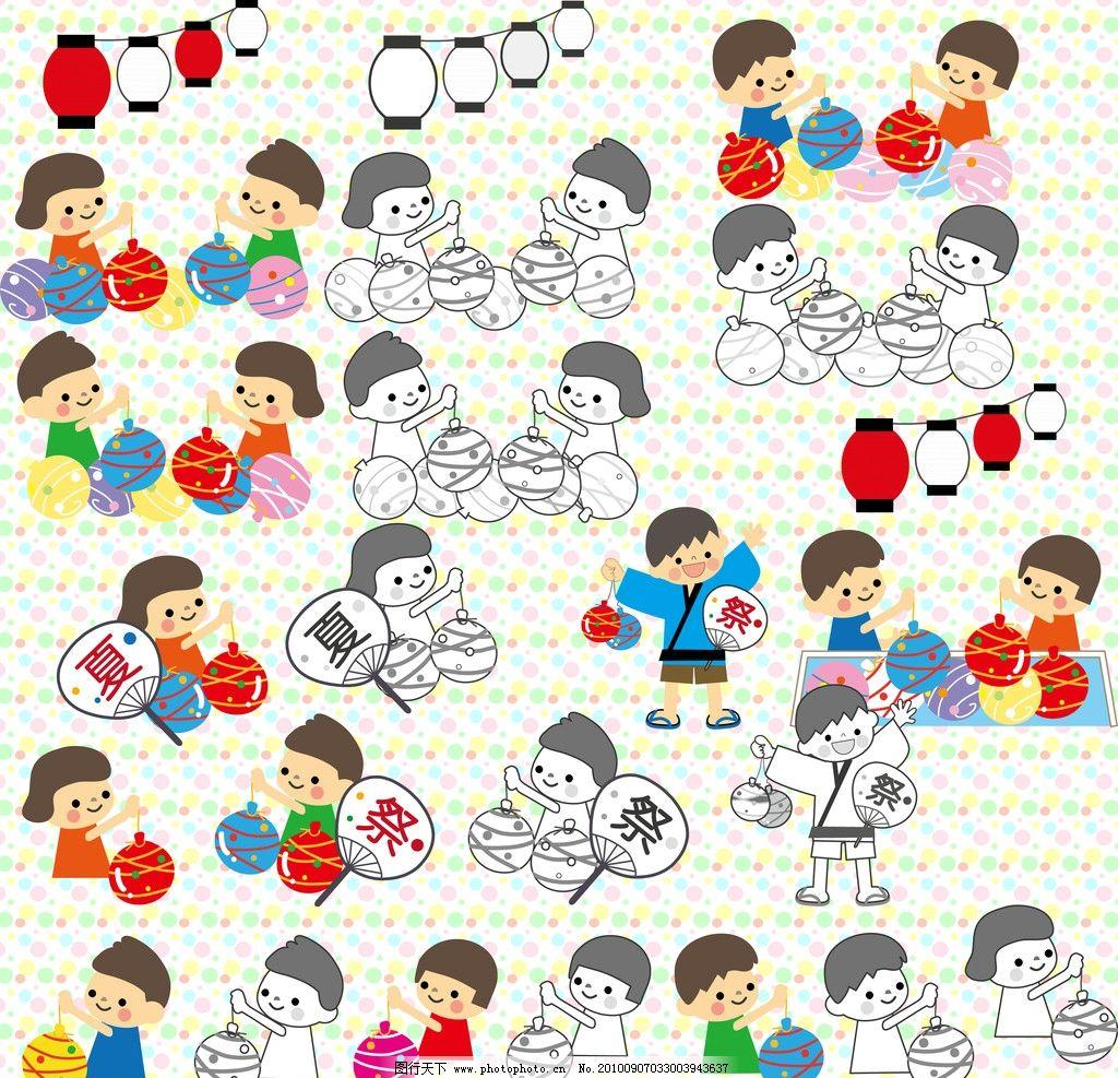 日本风情可爱儿童图片