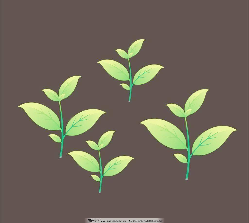 cdr 背景 边框 底纹 卡通树叶 绿色树叶 绿树叶 生物世界 树木树叶