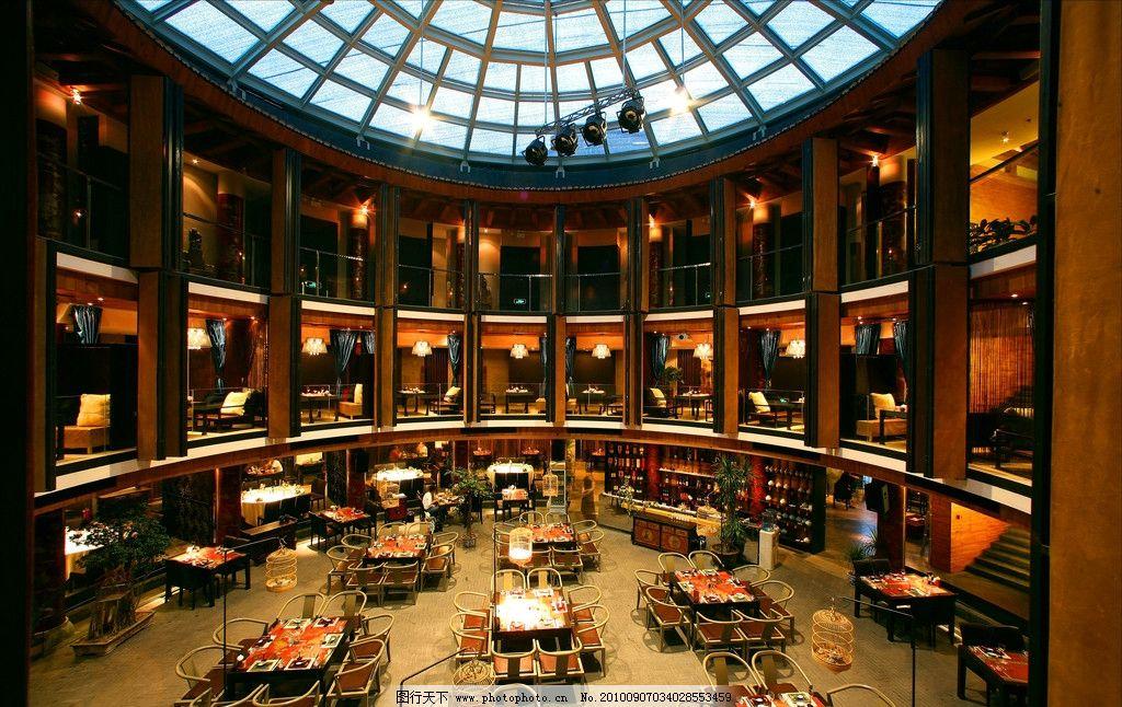 宴会大厅 玻璃穹顶 大跨度 欧式 观礼台 中式壁灯 红木酒柜 吧台