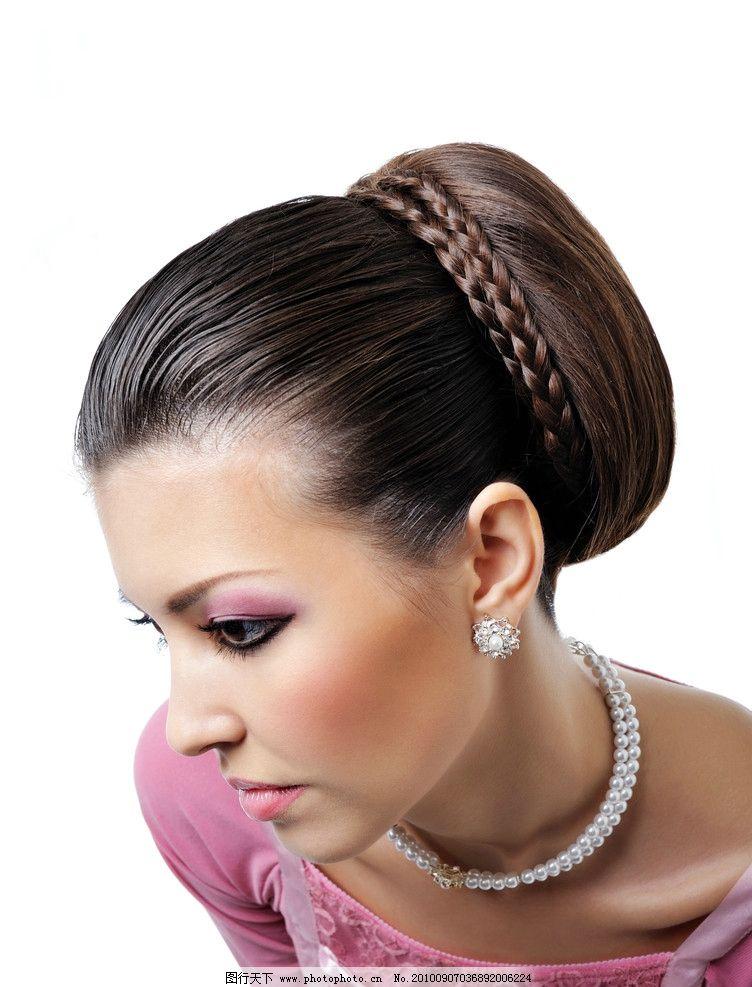 高清性感美女 长发 头发造型 发型 发艺 盘发 卷发 美容 美发图片