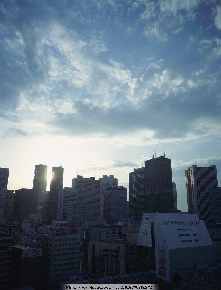 城市风光 城市 风光 白云 高楼 大厦 楼顶 光芒 天空 建筑摄影 建筑