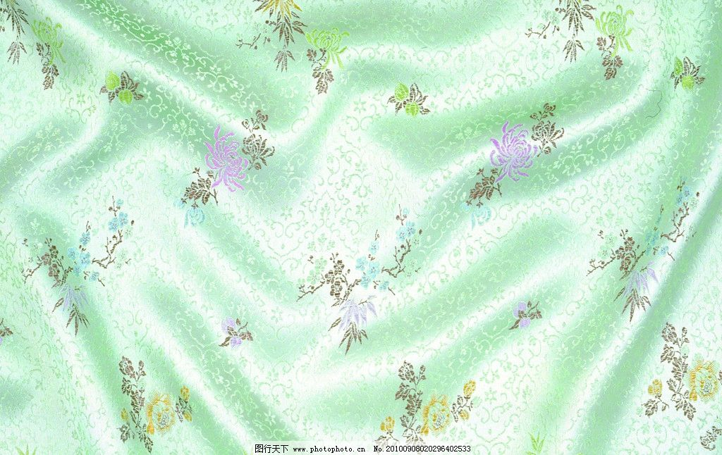绿色绸缎 刺绣 背景 底纹 绸缎 丝绸 布料 花纹 设计 绸缎背景 背景