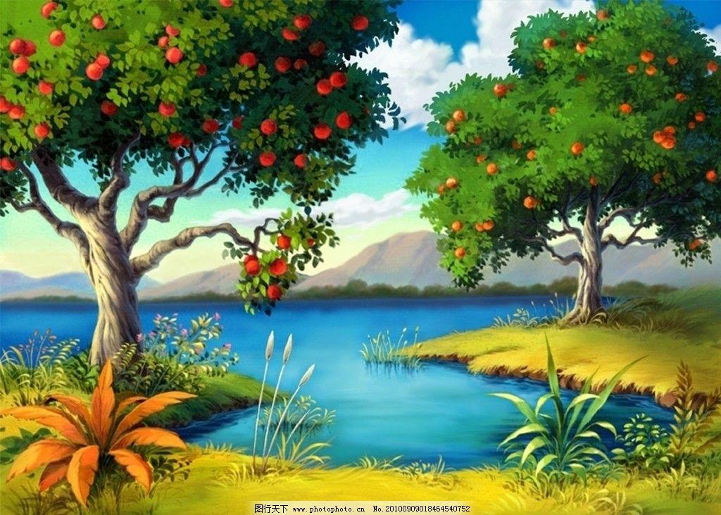 青苹果乐园 苹果树 红苹果