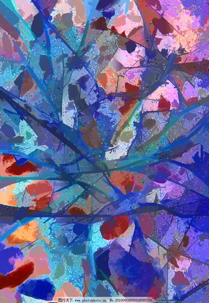 抽象水彩画图片