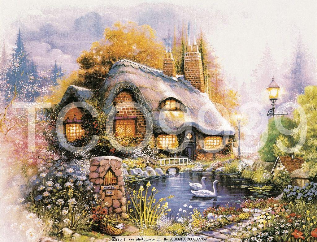 油画 手绘油画 田园风景(50x40厘米)图片