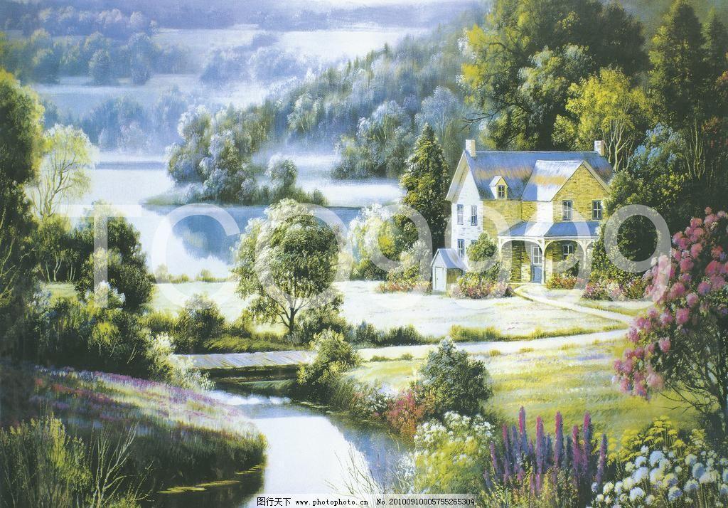 油画 手绘油画 田园风景(40x30厘米)图片