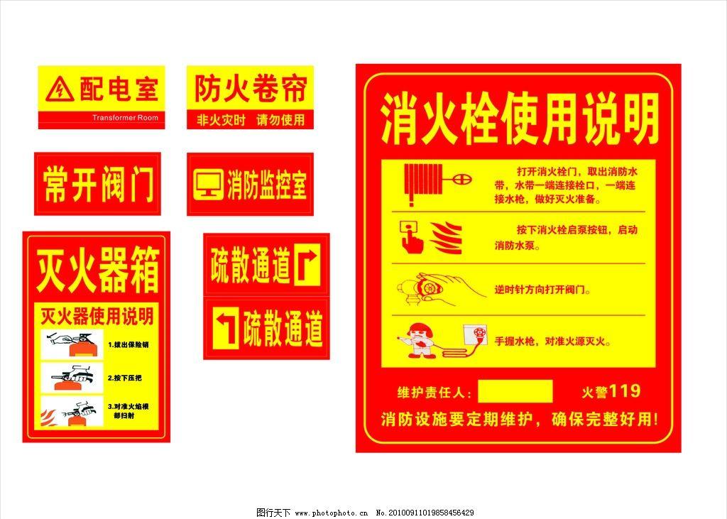 消防安全知识标志图片