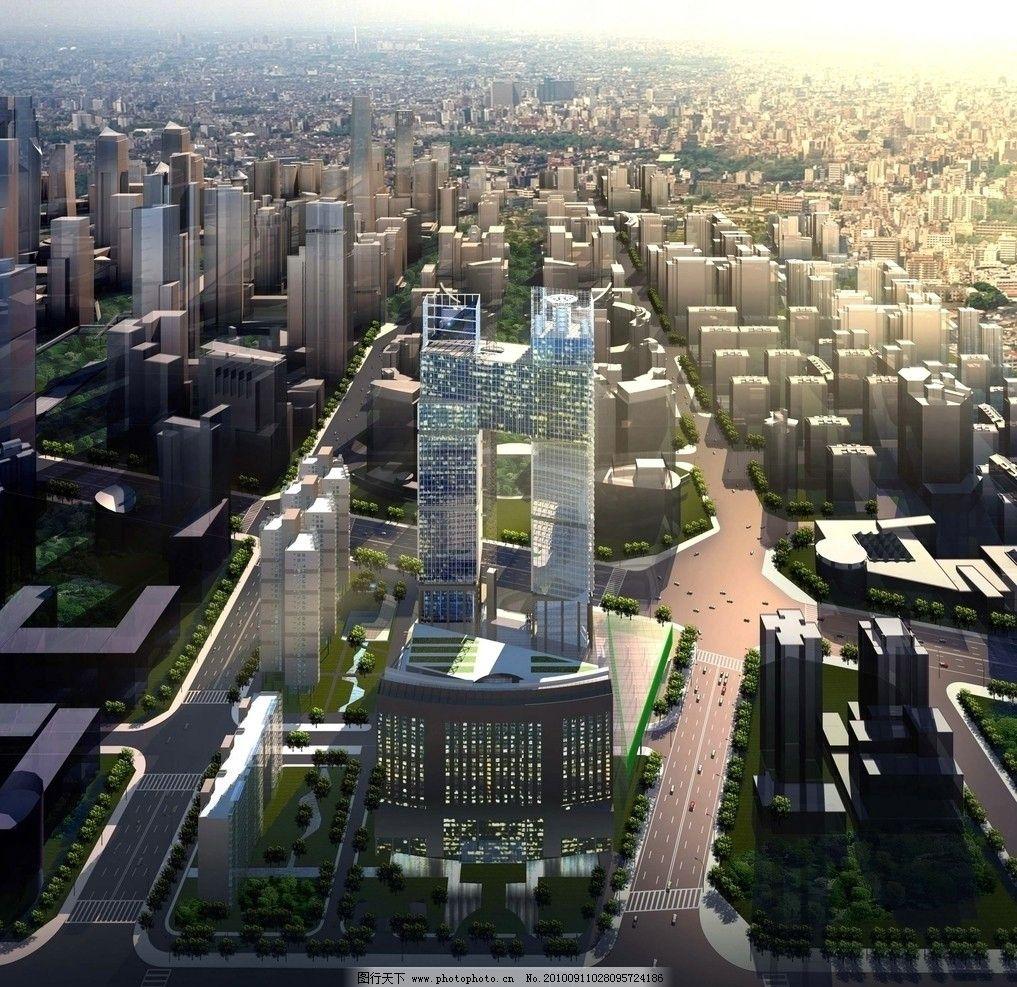 城市规划建筑效果图图片