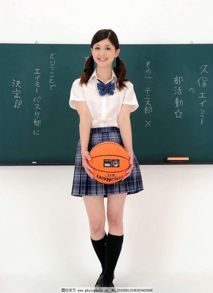 中学生 学生装 笑容 可爱 美女 清纯 学生 久保 日本学生 日本美女 篮