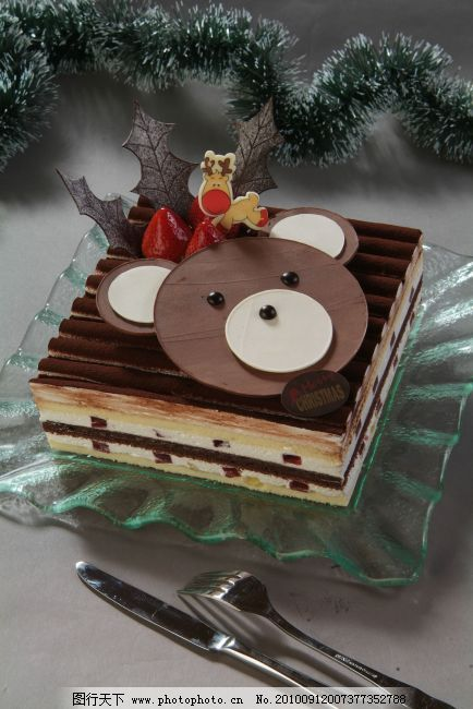 蛋糕/小熊祝福物语蛋糕(圣诞节).