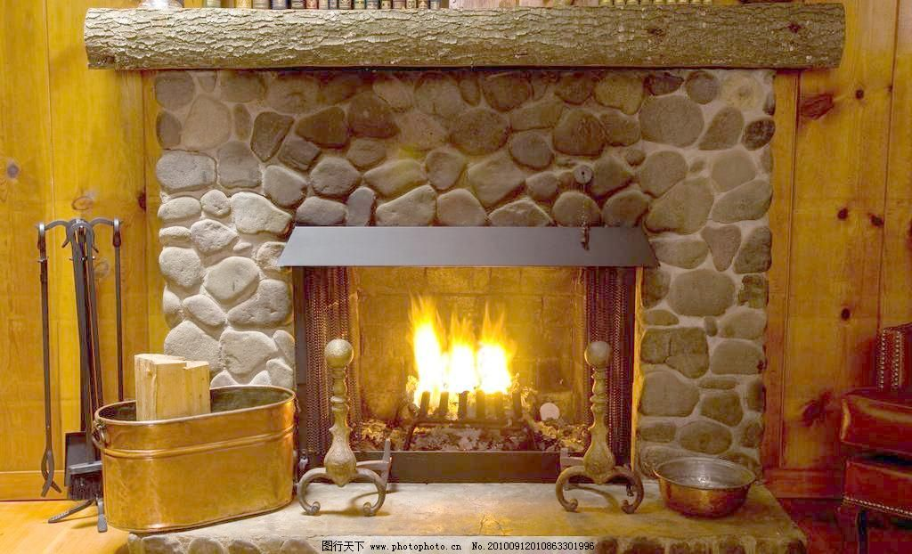 欧式室内设计 火炉图片