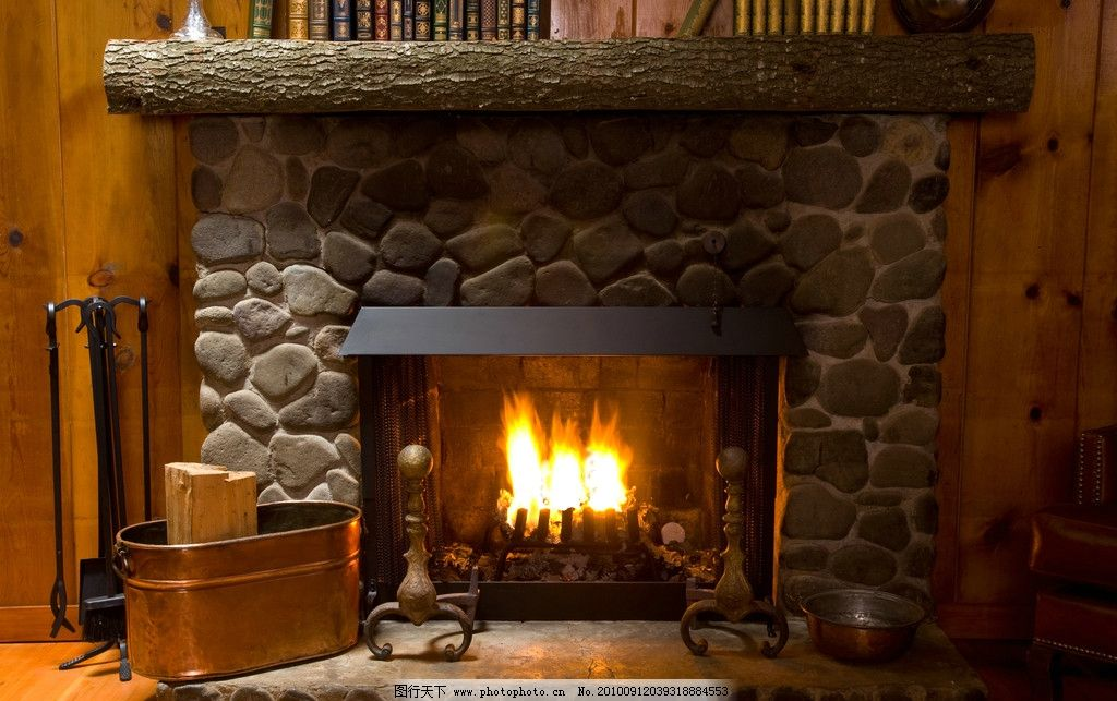 欧式室内设计 火炉图片图片