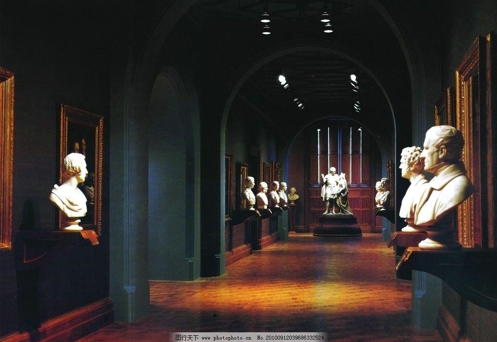 室内雕塑 豪华 室内 装饰 雕塑 空间 走廊 建筑园林 摄影 300dpi jpg
