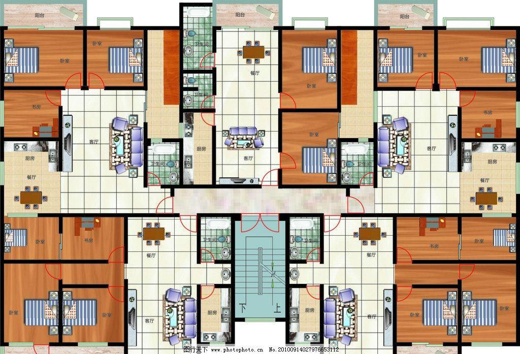 室内 平面图 布局                  书房 室内设计 建筑家居 矢量