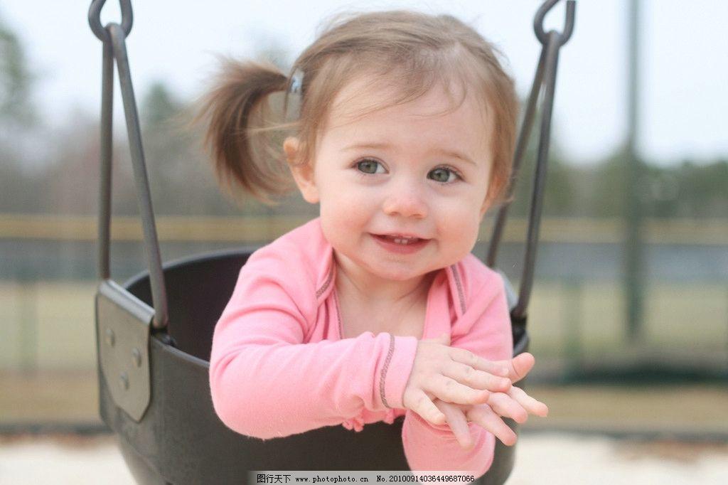 小女孩 可爱 清纯 外国小女孩 儿童 女孩 活泼 秋千 儿童幼儿 人物
