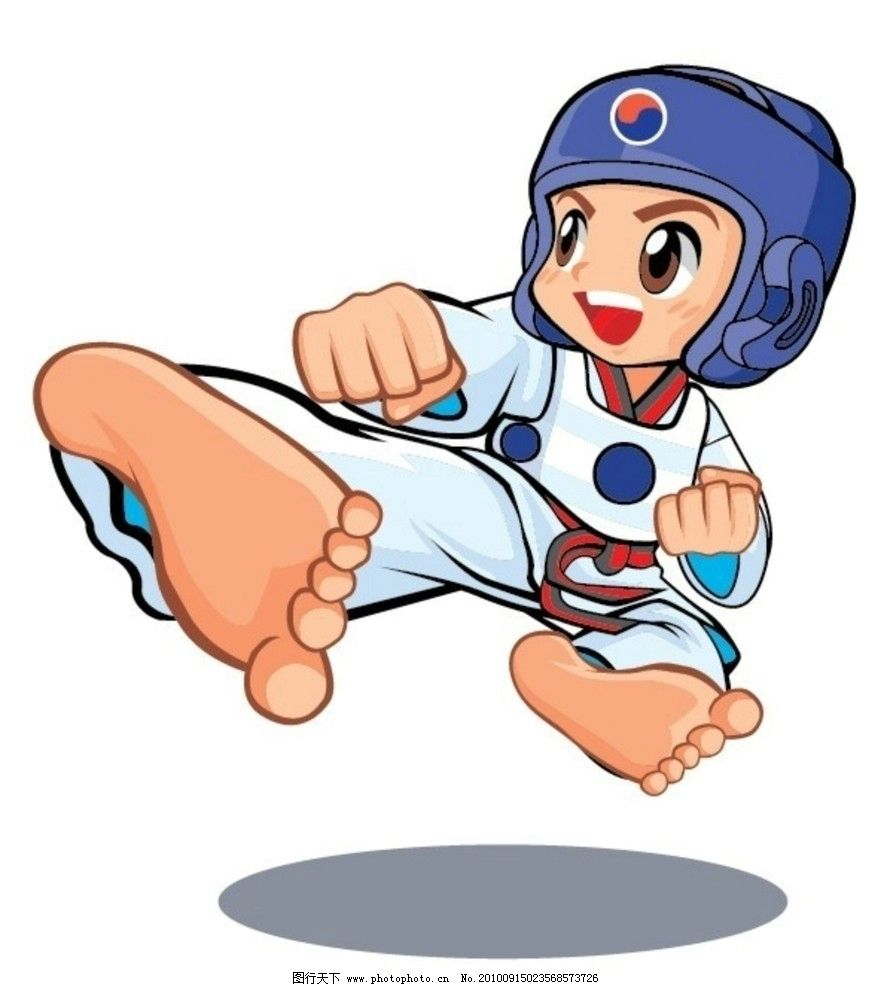 跆拳道动漫人物图片