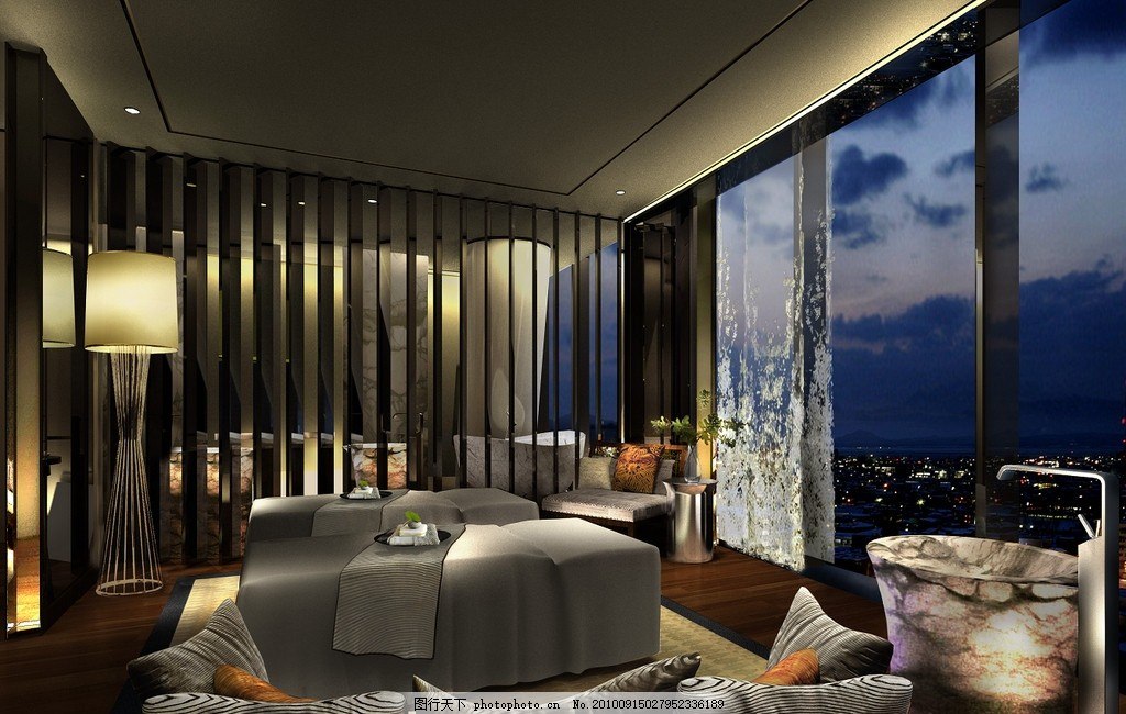 设计图库 环境设计 室内设计  豪华客房 豪华酒店客房 酒店 商务 客厅