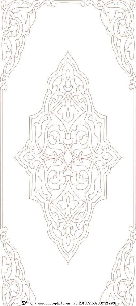 古典花纹 玻璃 古典 花纹 窗户 门 漂亮 传统建筑 建筑家居 矢量 cdr