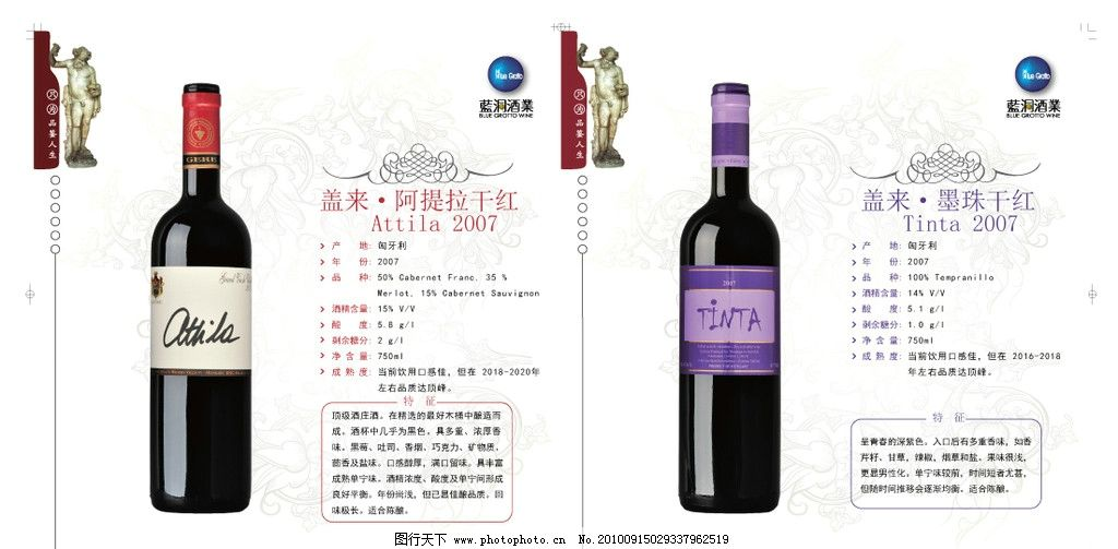 红酒插页 蓝洞酒业 漂亮酒瓶 好看底纹 各种红酒 好看边框 精美图案
