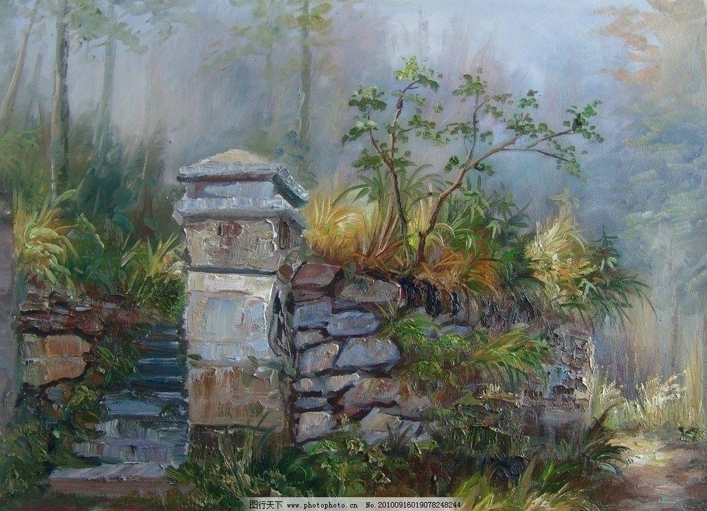 风景油画 手绘 油画 装饰画