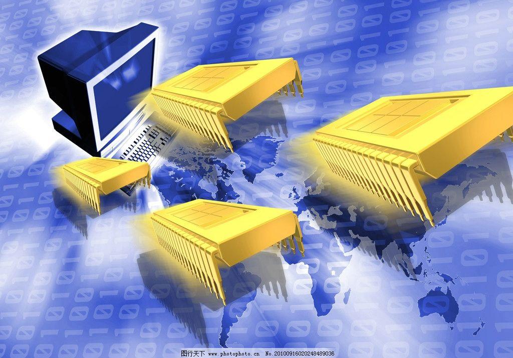 科技背景 芯片 电脑图片