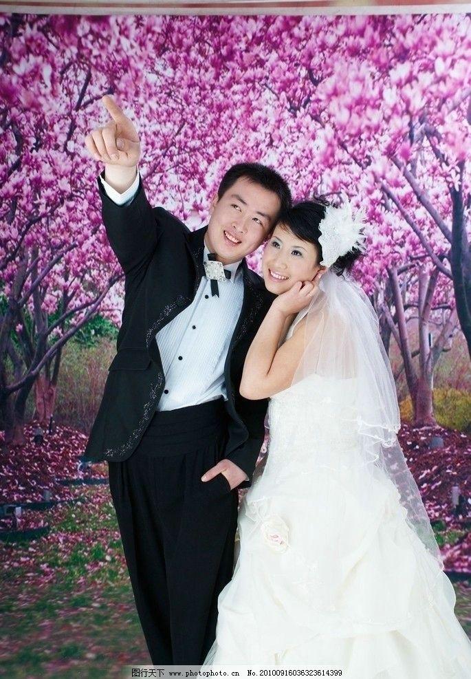 浪漫一生言情小�9n�_钟爱一生 爱情 摄影 婚纱 新娘 紫色 白纱 相爱 浪漫 大树
