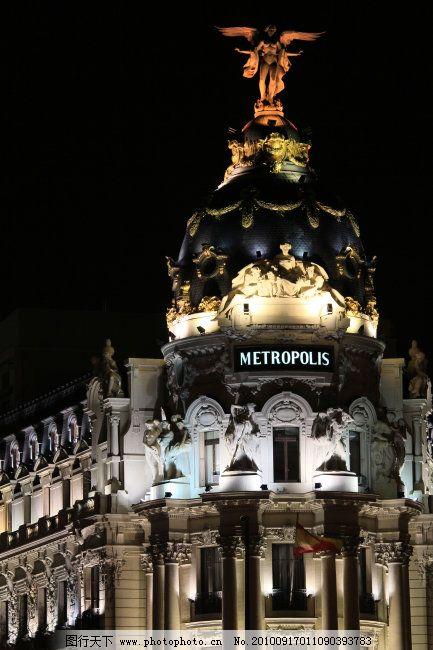 建筑夜景 佳能相机 旅游摄影 欧式建筑 夜色都市 夜色商场 商场建筑
