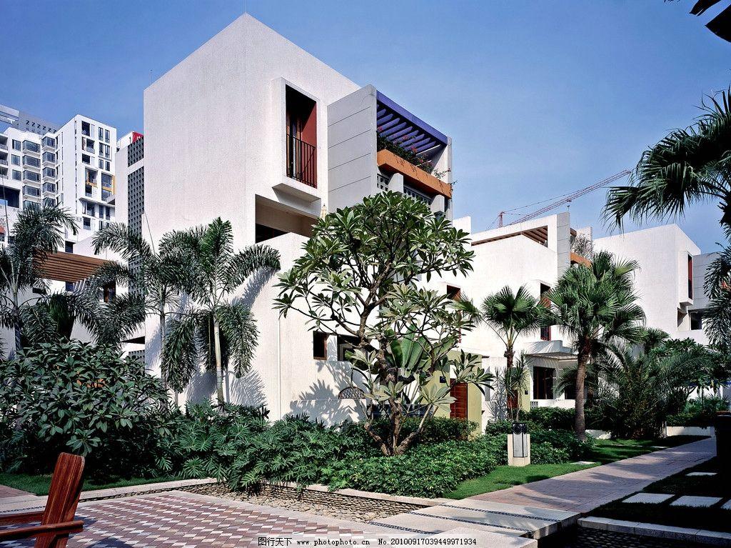 万科蓝山 小区 楼房 花园 风景 建筑 高清 树 地产用图 建筑摄影