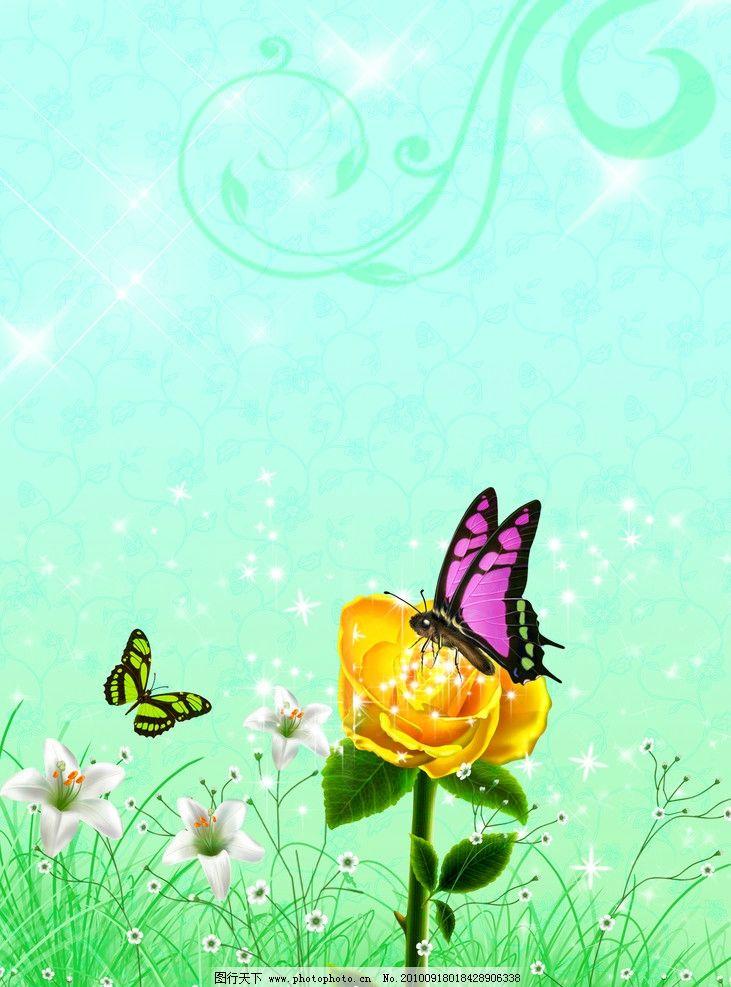 蝴蝶图片_风景漫画_动漫卡通