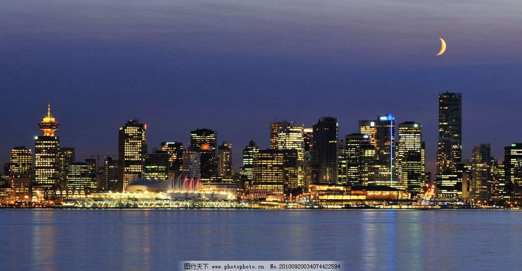 城市夜景高清图片