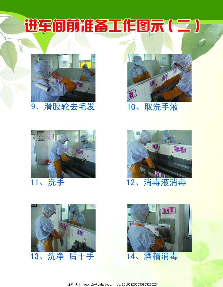 工作图 车间 流程 消毒 洗手 源文件