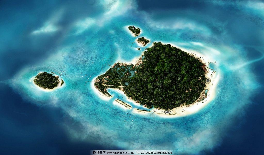 设计图库 自然景观 自然风光  大海 岛屿 高清图片 自然风景 自然