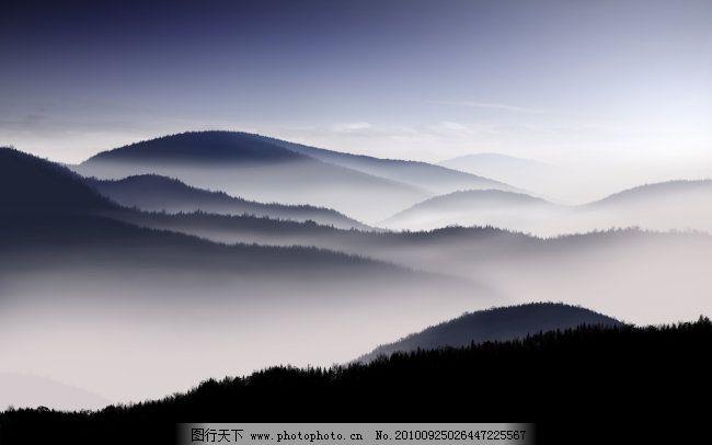 连绵群山 连绵群山免费下载 国画 山水 诗雾 意境 雾蒙蒙 图片素材