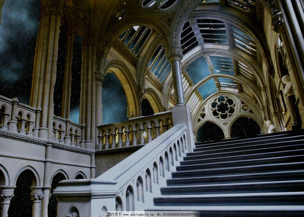 美丽景色 建筑风光 人文建筑 宫殿建筑 宫殿 阶梯 美丽风光 风景图片
