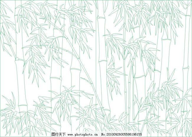竹子竹叶免费下载 矢量图