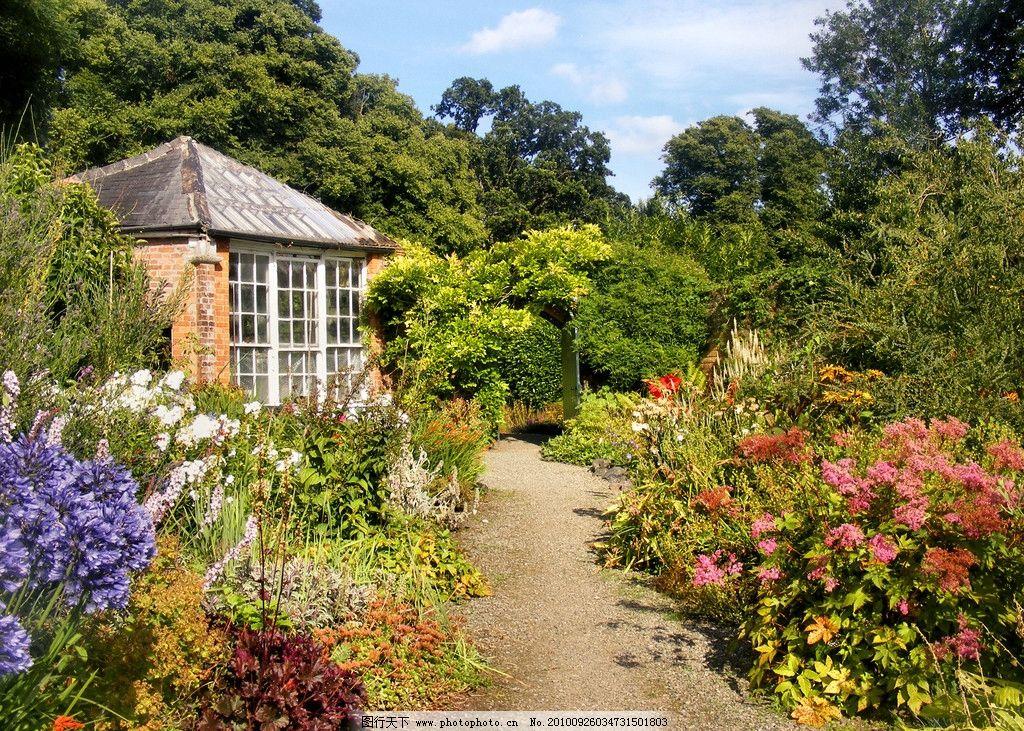 花园里的小房子图片