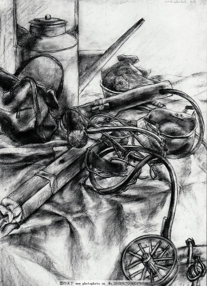 线描 线条 中国美术学院 师生作品 高考素描 大学素描 静物素描 桌子